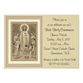 Primeiros convites do comunhão santamente