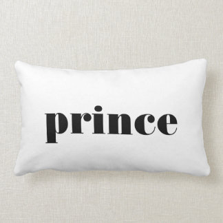 Prince typography for him bedroom decor pillow
