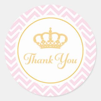 Princesa Agradecimento Você Tag Adesivo