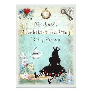 Princesa Alice no chá de fraldas do tea party do Convite 12.7 X 17.78cm