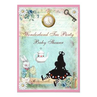Princesa Alice no tea party do chá de fraldas do Convite 12.7 X 17.78cm
