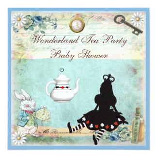 Princesa Alice no tea party do chá de fraldas do Convite Quadrado 13.35 X 13.35cm