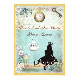Princesa Alice no tea party do chá de fraldas do p Convites Personalizado