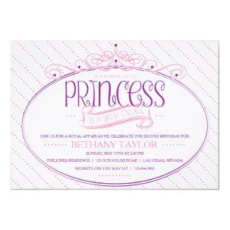 Princesa Aniversário Convite