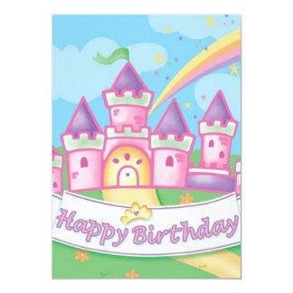 Princesa Aniversário Convite 12.7 X 17.78cm