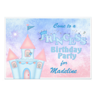 Princesa azul convite de aniversário