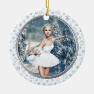 Princesa Bailarina Buon Natale Ornamento da neve