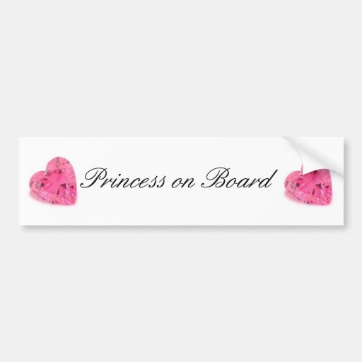 Princesa bonito a bordo autocolante no vidro trase adesivos