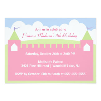 Princesa bonito convite de aniversário