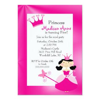 Princesa bonito convite de aniversário convite 12.7 x 17.78cm