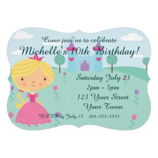 Princesa bonito festa de aniversário convite personalizados
