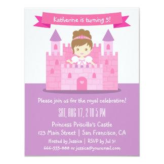 Princesa bonito na festa de aniversário da menina convite 10.79 x 13.97cm