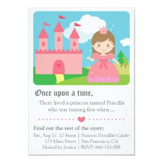 Princesa bonito Tema do conto de fadas, festa de Convite 11.30 X 15.87cm