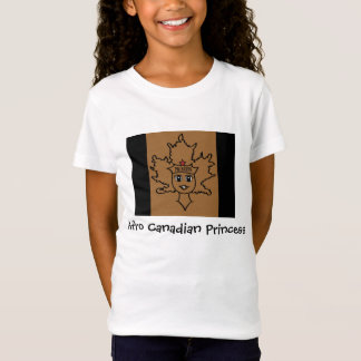Princesa canadense T do Afro Camisetas