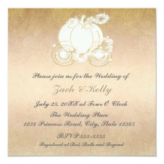 Princesa Carruagem Casamento Convite de Cinderella