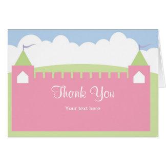 Princesa cartões de agradecimentos