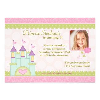 Princesa Castelo Foto Aniversário Convite