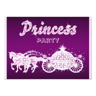 Princesa Cavalo & festa de aniversário da Convite 11.30 X 15.87cm