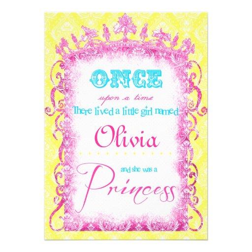 Princesa clássica Partido Convite