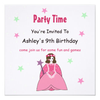 Princesa convite de aniversário