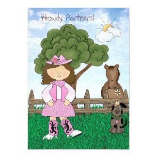 Princesa convite de aniversário da vaqueira