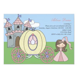 Princesa convite de aniversário do castelo