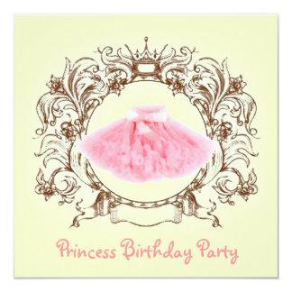 princesa convite de aniversário do tutu da