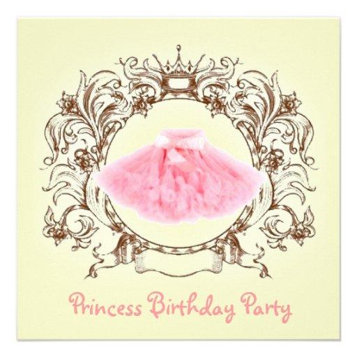 princesa convite de aniversário do tutu da bailari