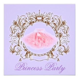 Princesa convite de aniversário do tutu de