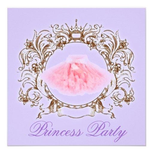 Princesa convite de aniversário do tutu de PurpleP