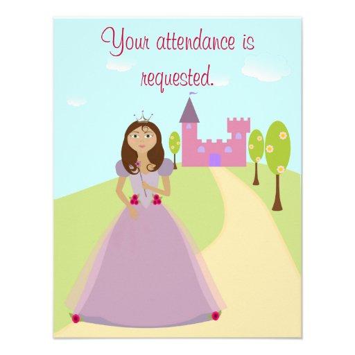 Princesa convite de festas 4,5 x5.5