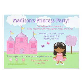 Princesa convite de festas do afro-americano