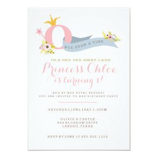 Princesa convite de festas do primeiro aniversario
