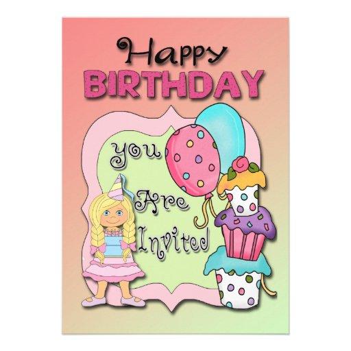 Princesa convites de festas de aniversários