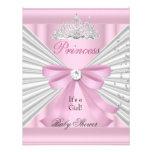 Princesa cor-de-rosa branca Tiara da menina do chá Convite