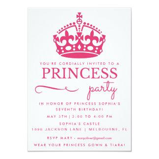 Princesa cor-de-rosa convites de festas de