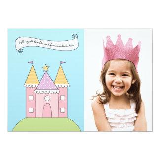Princesa cor-de-rosa do convite de aniversário |