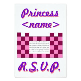 Princesa Cor-de-rosa/festa de aniversário R.S Convites Personalizado