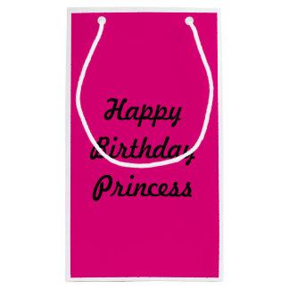 Princesa cor-de-rosa Presente Saco do feliz Sacola Para Presentes Pequena