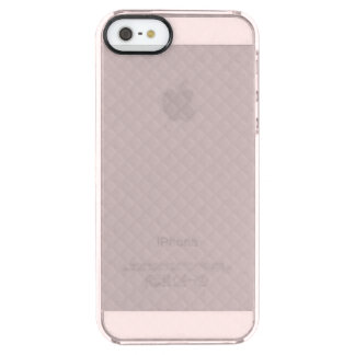Princesa Cor-de-rosa-Quadrado Acolchoado do Capa Para iPhone SE/5/5s Clear