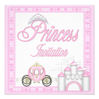 Princesa cor-de-rosa Treinamento e festa de aniver Convite Personalizado