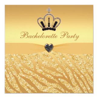 Princesa Coroa & impressão Bachelorette do brilho Convites