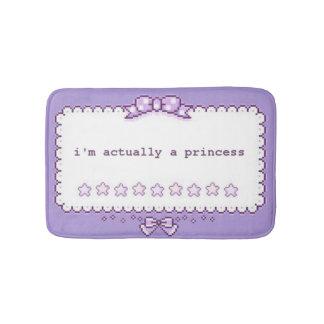 Princesa da arte do pixel tapete de banheiro