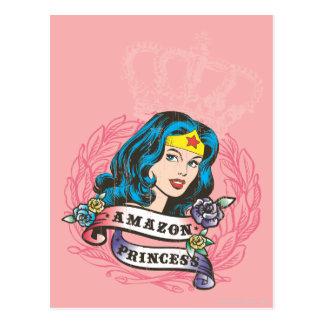 Princesa de Amazon da mulher maravilha Cartão Postal