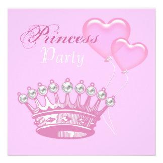 Princesa de coroa convite de aniversário do diaman