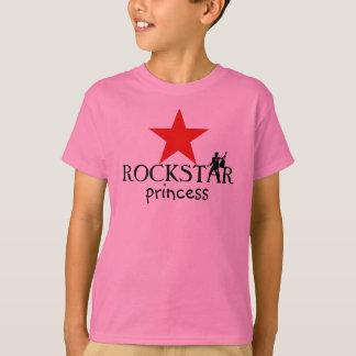 Princesa de ROCKSTAR - t-shirt das meninas