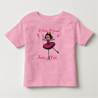 Princesa do aniversário - faça um desejo! camiseta