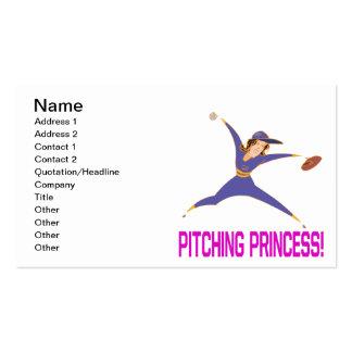 Princesa do lançamento cartão de visita