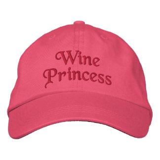 Princesa do vinho boné bordado