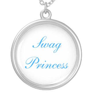 Princesa dos ganhos colar banhado a prata
